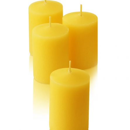 Pure Beeswax votive candle set of 4