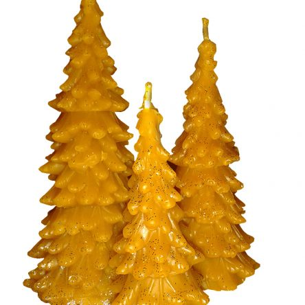 Pure Beeswax Tree Candle Set – S, M, L Size