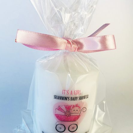 Personalised Christening Favour Candle